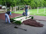 Бесшовные резиновые покрытия. Резиновое покрытие. Спортивные площадки.